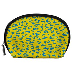 Blue Yellow Space Galaxy Accessory Pouches (large)