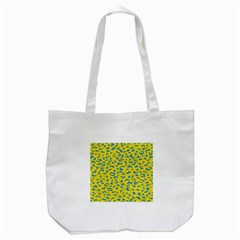 Blue Yellow Space Galaxy Tote Bag (white)