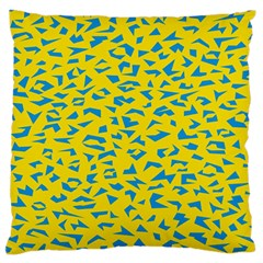 Blue Yellow Space Galaxy Large Flano Cushion Case (two Sides)