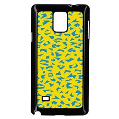 Blue Yellow Space Galaxy Samsung Galaxy Note 4 Case (black)