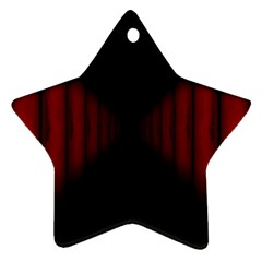 Black Red Door Star Ornament (two Sides)