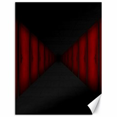 Black Red Door Canvas 18  X 24