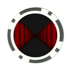 Black Red Door Poker Chip Card Guard