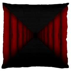 Black Red Door Large Cushion Case (one Side)