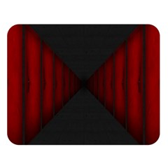 Black Red Door Double Sided Flano Blanket (large)
