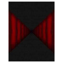 Black Red Door Drawstring Bag (large)