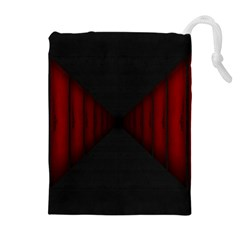 Black Red Door Drawstring Pouches (extra Large)