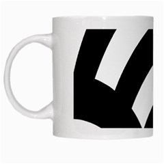 Circle White Black White Mugs