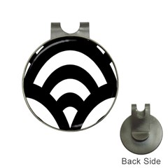 Circle White Black Hat Clips With Golf Markers