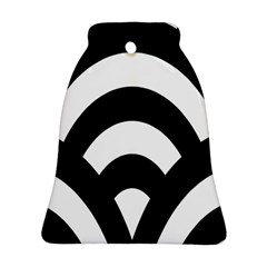Circle White Black Bell Ornament (two Sides)