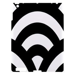 Circle White Black Apple Ipad 3/4 Hardshell Case
