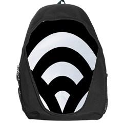 Circle White Black Backpack Bag
