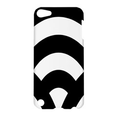 Circle White Black Apple Ipod Touch 5 Hardshell Case
