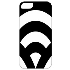 Circle White Black Apple Iphone 5 Classic Hardshell Case