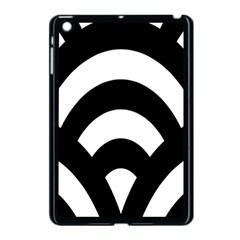 Circle White Black Apple Ipad Mini Case (black)