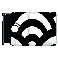 Circle White Black Apple Ipad 2 Flip 360 Case