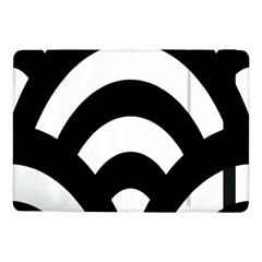 Circle White Black Samsung Galaxy Tab Pro 10 1  Flip Case