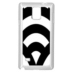 Circle White Black Samsung Galaxy Note 4 Case (white)
