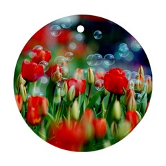 Colorful Flowers Ornament (round)
