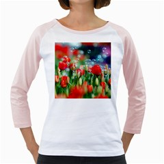 Colorful Flowers Girly Raglans