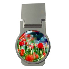 Colorful Flowers Money Clips (round)