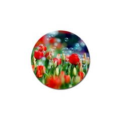 Colorful Flowers Golf Ball Marker (4 Pack)