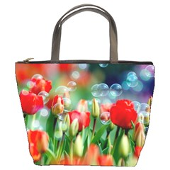 Colorful Flowers Bucket Bags