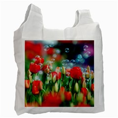 Colorful Flowers Recycle Bag (two Side)