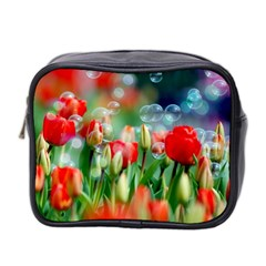 Colorful Flowers Mini Toiletries Bag 2 Side