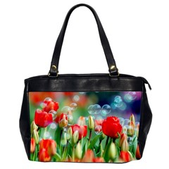 Colorful Flowers Office Handbags (2 Sides)