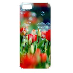 Colorful Flowers Apple Iphone 5 Seamless Case (white)