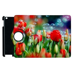 Colorful Flowers Apple Ipad 2 Flip 360 Case