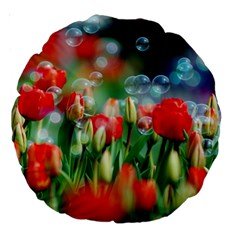 Colorful Flowers Large 18  Premium Round Cushions