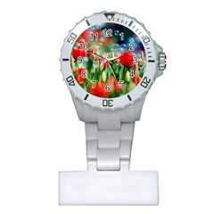 Colorful Flowers Plastic Nurses Watch