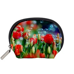 Colorful Flowers Accessory Pouches (small)