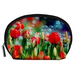 Colorful Flowers Accessory Pouches (large)