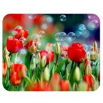 Colorful Flowers Double Sided Flano Blanket (Medium)  60 x50 Blanket Back