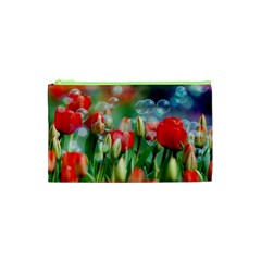 Colorful Flowers Cosmetic Bag (xs)