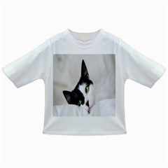 Cat Face Cute Black White Animals Infant/toddler T Shirts
