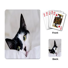 Cat Face Cute Black White Animals Playing Card
