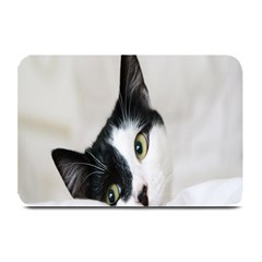 Cat Face Cute Black White Animals Plate Mats