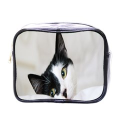 Cat Face Cute Black White Animals Mini Toiletries Bags