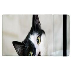 Cat Face Cute Black White Animals Apple Ipad 3/4 Flip Case
