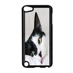 Cat Face Cute Black White Animals Apple Ipod Touch 5 Case (black)