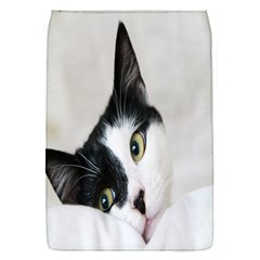 Cat Face Cute Black White Animals Flap Covers (s)
