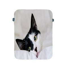 Cat Face Cute Black White Animals Apple Ipad 2/3/4 Protective Soft Cases