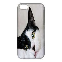 Cat Face Cute Black White Animals Apple Iphone 5c Hardshell Case