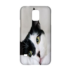 Cat Face Cute Black White Animals Samsung Galaxy S5 Hardshell Case