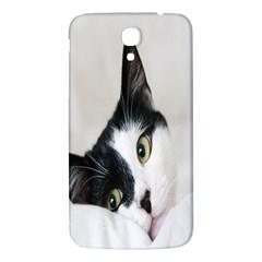 Cat Face Cute Black White Animals Samsung Galaxy Mega I9200 Hardshell Back Case