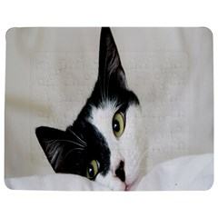 Cat Face Cute Black White Animals Jigsaw Puzzle Photo Stand (rectangular)